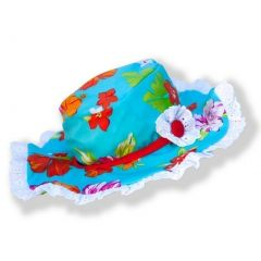 Azul Girls Red Turquoise Floral Print Totes Cute Stylish Sun Hat 6M-5Y