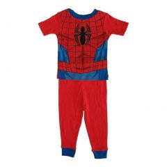 Marvel Little Toddler Boys Red Spiderman Cotton Short Sleeve 2 Pc Pajama 2-4T