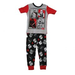 Star Wars Big Boys Gray Black Short Sleeve 2 Pc Pajama Set 8-10