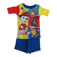 Nickelodeon Little Boys Royal Blue Yellow Paw Patrol Two Piece Pajamas 2T-4T