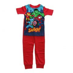 Marvel Big Boys Red Spider-Man Short Sleeve Two Piece Pajama Set 4-10