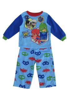 "Disney Little Boys Blue ""PJ Masks Is The Baddies"" Print 2 Pc Pajama Set 2-4T"