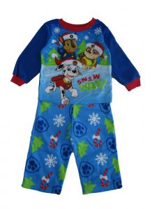 "Nickelodeon Little Boys Blue ""Snow Way"" Paw Patrol Print 2 Pc Pajama Set 2-4T"