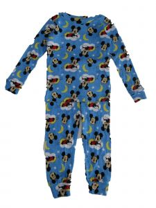 Disney Little Boys Blue Mickey Mouse Allover Print 2 Pc Pajama Set 2-4T