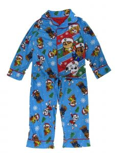 Nickelodeon Big Boys Blue Seasonal Paw Patrol 2Pc Pajama 8-10