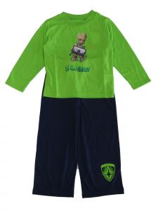 "Marvel Little Boys Green Blue ""I am Groot"" 2pc Pajama Set 4-6"