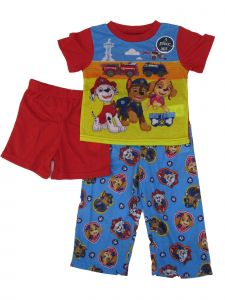 Nickelodeon Little Boys Multi Paw Patrol Shorts Pants 3 Pc Pajamas Set 2-4T