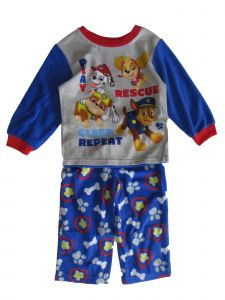 Nickelodeon Little Boys Grey Blue Paw Patrol Long Sleeve Pajama Set 2-4T