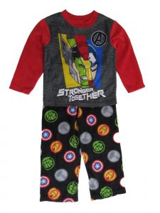 Disney Big Boys Multi Marvel The Avengers Stronger Together Pajama Set 8-10