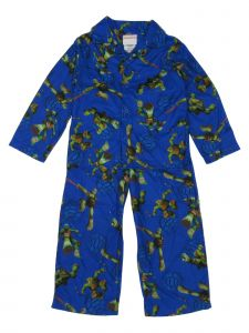 Nickelodeon Little Boys Blue TNT Long Sleeve Button 2 Pcs Pajamas 4-6