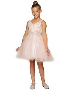 Girls Multi Color Dazzling Rhinestone Tulle Easter Dress 2-16