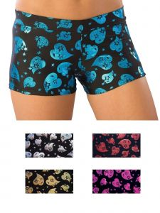 Pizzazz Girls Multi Color Cheer Heart Hot Shorts Youth 2-16