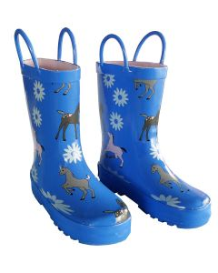 Blue Pony Toddler Unisex Rain Boots 5-10