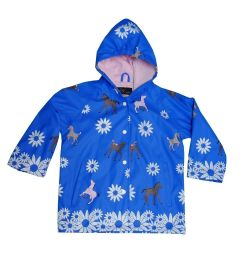 Blue Fire Trucks Boys Rain Coat 5-10
