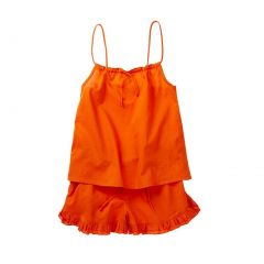 Azul Big Girls Orange Drawstring Cotton Camisole Top 2 Pc Shorts Outfit 8-14