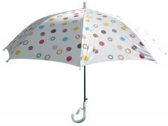 White Polka Dots Girls Umbrella