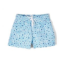 Azul Baby Girls Blue Flower Print Drawstring Dreamy Daisies Swim Shorts 6-24M