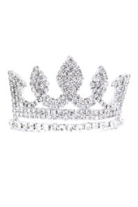 Cinderella Couture Girls Silver Rhinestone Wedding Pageant Comb Mini Tiara