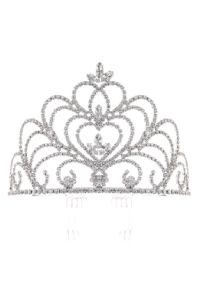 Cinderella Couture Girls Silver Rhinestone Marquise Pageant Comb Tiara