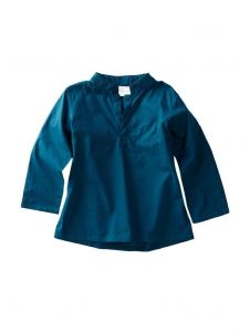 Azul Unisex Little Kids Slate Blue Solid Color Long Sleeve Urban Tunic 2T-7