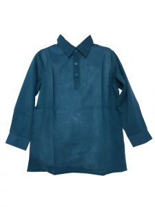 Azul Big Boys Slate Blue Solid Color Long Sleeve Cotton Shirt Top 8-14