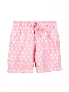 Azul Baby Girls Pink Crown Print Queen Of The Castle Swim Shorts 6-24M
