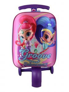ATM Nickelodeon Collection Pink EBA Shell Shimmer And Shine Scootie Luggage