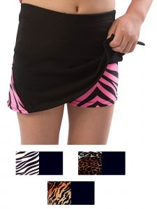 Pizzazz Women Multi Color Zebra X-Animal Print Skirt Boys Cut Briefs Adult S-2XL
