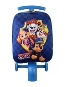 ATM Nickelodeon Collection Boys Blue Wheeled Paw Patrol Scootie Luggage