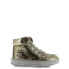 Rilo Little Girls Glitter Oro Lace-Up Tennis Casual Shoes 8-10.5 Toddler