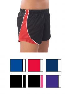 Pizzazz Girls Multi Color Fusion Mesh Shorts Youth 2-16