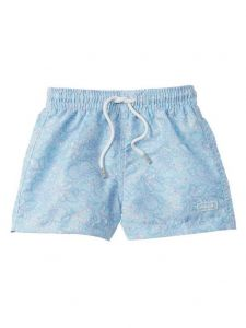 Azul Little Boys Powder Blue Drawstring Tie Baby's Breath Swimwear Shorts 2-4