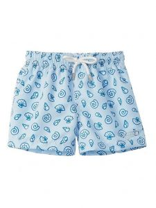 Azul Baby Boys Green Palm Spring Print Drawstring Tie Swimwear Shorts 6-24M