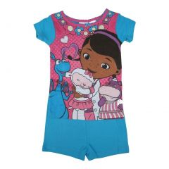Disney Little Girls Fuchsia Doc McStuffins Short Sleeve Top Shorts Set 2-4T
