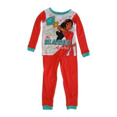 Disney Big Girls Coral Princess Elena of Avalor 2 Pcs Long Sleeve Pajama 8-10