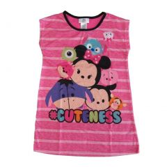 Disney Little Girls Pink Tsum Tsum #Cuteness Short Sleeve Nightgown 4-6