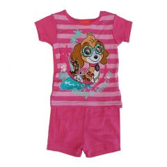 Nickelodeon Little Girls Fuchsia Paw Patrol Short Sleeve 2 Pcs Pajama Set 2-4T