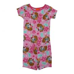 Nickelodeon Little Girls Pink Paw Patrol Short Sleeve 2 Pcs Pajama Set 2-4T