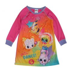 "Shopkins Little Girls Pink ""Gotta Dance"" Long Sleeve Nightgown 4-6"
