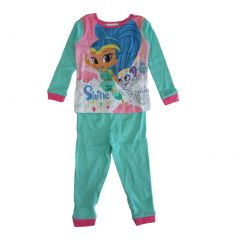 Nickelodeon Little Girls Aqua Shimmer Shine Long Sleeve 2 Pcs Pajama Set 2T