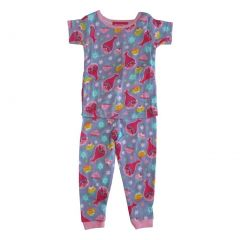 DreamWorks Little Girls Purple Trolls Print Long Sleeve 2 Pcs Pajama Set 2T