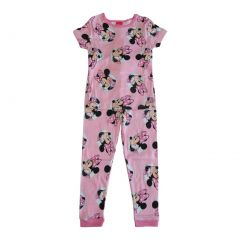 Disney Girls Pink Minnie Mouse Print Short Sleeve 2 Pcs Pajama Set 4-8