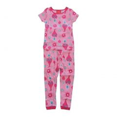 DreamWorks Girls Pink Poppy Print Short Sleeve 2 Pcs Pajama Set 6-8
