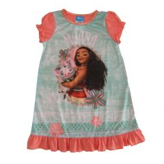 Disney Big Girls Mint Green Moana Short Sleeve Nightgown 8-10