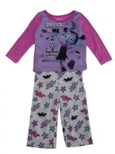 "Disney Little Girls Purple Vampirina ""Proud To Be Me"" 2 Pc Pajama Set 2-4T"