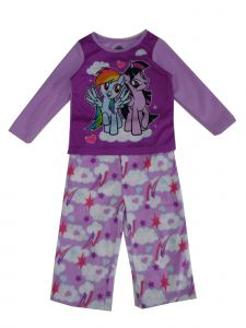 Hasbro Little Girls Purple My Little Pony Cloud Print 2 Pc Pajama Set 2-4T