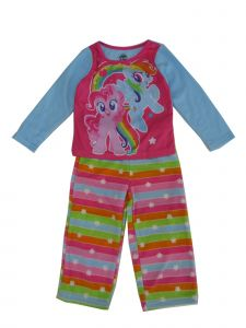 Hasbro Big Girls Multi Color My Little Pony Print 2 Pc Pajama Set 8-10