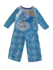 Disney Little Girls Blue Frozen Elsa Olaf Print Sot 2 Pc Pajama Set 3T