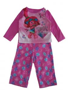Dreamwave Little Girls Pink Trolls Poppy Character Print 2 Pc Pajama Set 2-4T