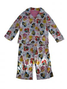 Disney Little Girls White Multi Disney Princess Print 2 Pc Pajama Set 4-6